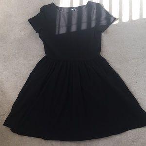 ASOS Black Midi Dress in Size 8